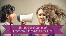 The Do's and Don'ts of Facebook Ads to Grow Email List
